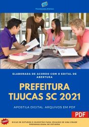 Apostila Concurso Prefeitura de Tijucas SC 2021 Psicólogo