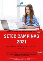 Apostila Concurso SETEC Campinas 2021 Agente Administrativo