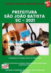 Apostila Concurso Pref São João Batista SC 2021 Médico Veterinário
