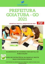 Apostila Concurso Prefeitura Goiatuba GO 2021 Farmacêutico