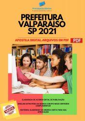Apostila Concurso Prefeitura Valparaíso SP 2021 Fiscal de Tributos