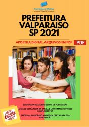 Apostila Concurso Prefeitura Valparaíso SP 2021 Psicopedagogo