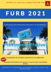Apostila Concurso FURB SC 2021 Auxiliar de Serviços Administrativos