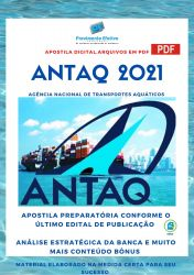 Apostila Concurso ANTAQ 2021 Técnico em Regulação de Serviços de Transportes Aquaviários
