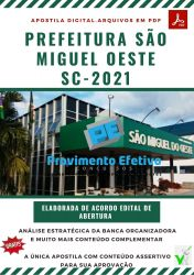 Apostila Concurso Pref São Miguel Oeste 2021 Farmacêutico