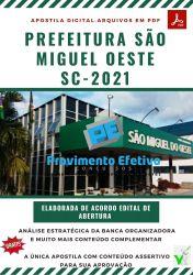 Apostila Concurso Pref São Miguel Oeste 2021 Fiscal de Obras e Postura