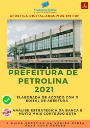 Apostila Concurso Prefeitura Petrolina 2021 Auxiliar de Limpeza