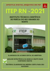 Apostila Concurso ITEP RN 2021 Perito Criminal Engenharia Mecânica