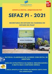 Apostila Concurso SEFAZ PI 2021 Analista Desenvolvimento Sistemas