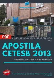 Apostila Concurso CETESB 2013 Farmacêutico Bioquímico