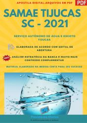 Apostila Concurso SAMAE Tijucas SC 2021 Assistente Social Engenheiro Sanitarista