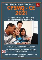 Apostila Concurso CPSMQ CE 2021 Auxiliar Saúde Bucal