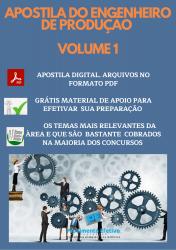 Apostila do Engenheiro de Produção Concursos Engenharia de Produção - Volume 1