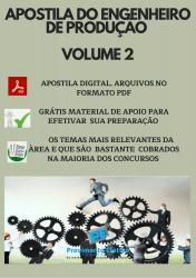 Apostila do Engenheiro de Produção Concursos Engenharia de Produção - Volume 2