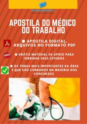 Apostila do Médico do Trabalho Concursos Medicina do Trabalho