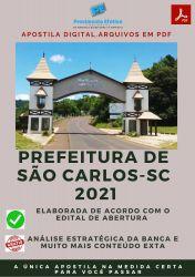 Apostila Concurso Pref São Carlos SC 2021 Controlador Interno