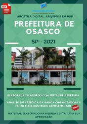 Apostila Concurso Pref Osasco SP 2021 Servente de Escola