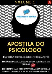 Apostila do Psicólogo Concursos Psicologia - Volume 1