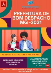 Apostila Concurso Pref Bom Despacho 2021 Enfermeiro