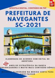 Apostila Concurso Pref Navegantes SC 2021 Agente Serviços Gerais