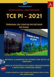 Apostila Assistente de Administração Concurso TCE PI 2021 Download