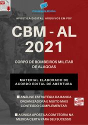 Apostila Concurso Bombeiros CBM AL 2021 Aspirante a Oficial