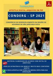 Apostila Concurso CONDERG SP 2021 Escriturário