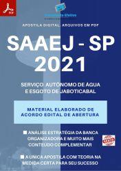 Apostila Concurso SAAEJ Jaboticabal SP 2021 Agente Administrativo