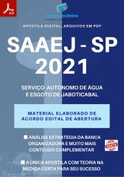 Apostila Concurso SAAEJ Jaboticabal SP 2021 Técnico Laboratório