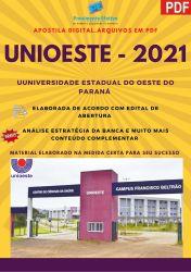 Apostila Concurso UNIOESTE 2021 cargo ENFERMEIRO