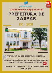 Apostila Prefeitura Gaspar Analista em Gestão Pública  Concurso 2021