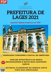 Apostila Prefeitura Lages SC Engenheiro Civil Concurso 2021