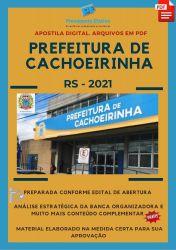 Apostila Digital Nutricionista Prefeitura Cachoeirinha Seleção 2021
