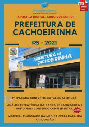 Apostila Digital Psicólogo Prefeitura Cachoeirinha Seleção 2021