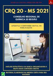 Apostila CRQ 20 Região MS cargo Fiscal - Prova 2021