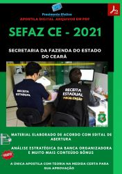 Apostila SEFAZ CE Auditor Fiscal Contábil – PEConcursos 2021