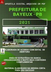 Apostila Prefeitura BAYEUX PB Nutricionista 2021 – PEConcursos
