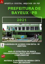 Apostila Prefeitura BAYEUX PB Auxiliar Consultório Dentário 2021 – PEConcursos