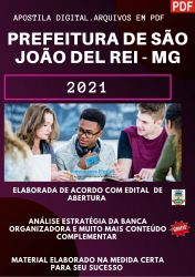 Apostila Prefeitura São João Del Rei MG Terapeuta Ocupacional – PEConcursos 2021