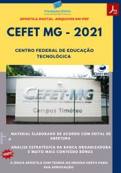 Apostila CEFET MG Arquiteto e Urbanista Ano 2021