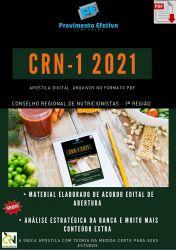 Apostila Nutricionista Acessor Fiscal Concurso CRN 1ª Região – PEC 2021