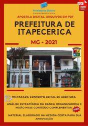Apostila Prefeitura Itapecerica MG Assistente Administrativo – PEC Ano 2021