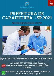 Apostila Pref Carapicuíba SP Auxiliar Saúde Bucal Prova 2021