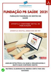 Apostila Fundação PB Saúde Fonoaudiologia Prova 2021