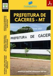 Apostila Prefeitura Cáceres MT Psicóloga Ano 2021