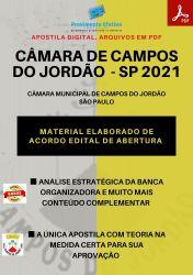 Apostila Câmara Campos do Jordão SP Recepcionista Telefonista - PEC 2021