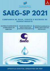 Apostila SAEG SP Agente Saneamento Auxiliar ETA - PEC 2021