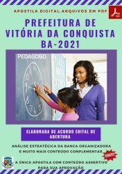Apostila Prefeitura Vitória da Conquista BA Pedagogo - PEC 2021