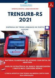 Apostila TRENSURB RS Técnico em Contabilidade Ano 2021
