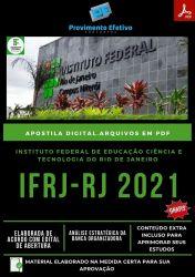 Apostila Concurso IFRJ Técnico Assuntos Educacionais Prova 2021